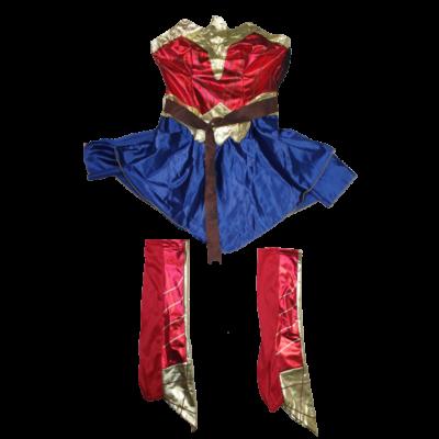 Nagylányra vagy kisebb felnőttre Wonder Woman 2 részes jelmez