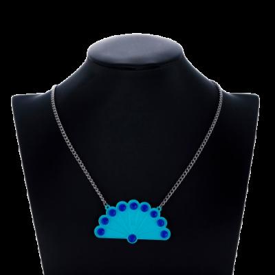 Kék páva alakú Katica, Miraculous nyaklánc - Csodálatos Katicabogár - ÚJ