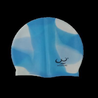 Kék-fehér szilikon úszósapka - ÚJ