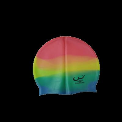 Szivárványszínű szilikon úszósapka - ÚJ