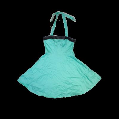 XXL-es zöld pántos ruha, jelmez