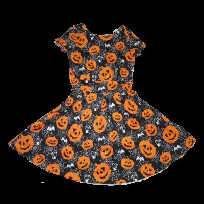 XL-es fekete pókhálós, tökös ruha, jelmez - Halloween - ÚJ