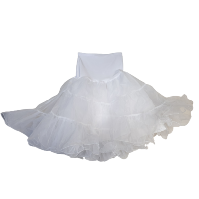 Női S-es fehér tüllös jelmez szoknya