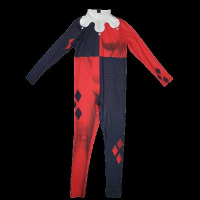 13-14 évesre piros-fekete mintás kezeslábas jelmez