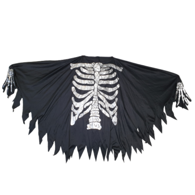 Felnőtt fekete csontvázas jelmezfelső - Halloween