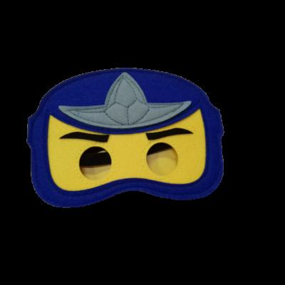 Kék-sárga ninjago filcmaszk - ÚJ