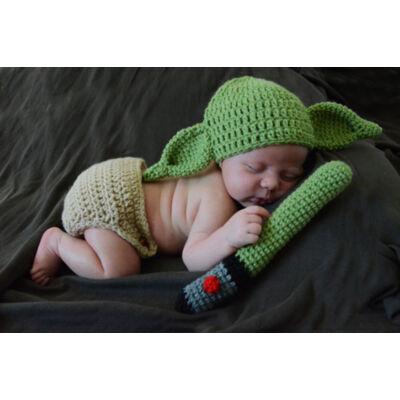 Bébi Yoda, Mandalorian kötött baba szett - Star Wars - ÚJ