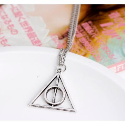 A halál ereklyéje nyaklánc, ezüst színű - Deathly Hallows - Harry Potter - ÚJ