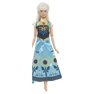 Kék hercegnő ruha, Anna - Frozen, Jégvarázs - ÚJ