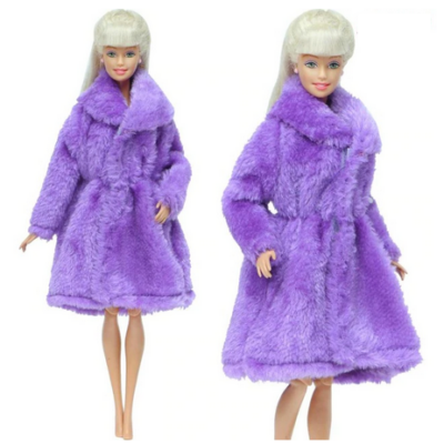 Barbie babára bunda, lila - ÚJ