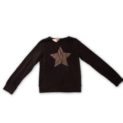 146-152-es fekete csillagos pulóver lánynak - C&A