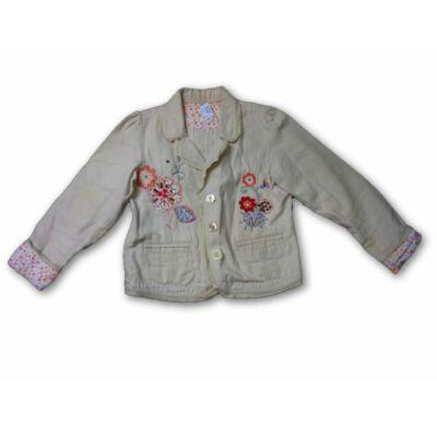 152-es vajszínű virágos blézer jellegű átmeneti kabát - H&M