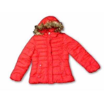 152-es piros szőrmés kapunis lány kabát - Zara