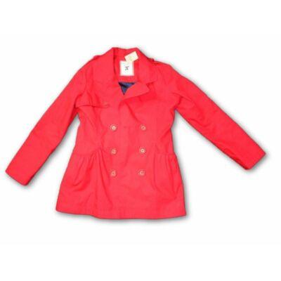 146-os piros lányka vászon átmeneti kabát