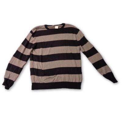 Férfi L-es kék-szürke csíkos kötött pulóver - felicity.hu használt ... 146468601a