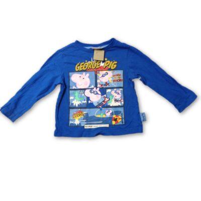 86-os kék pamutfelső - Peppa Pig, Peppa Malac