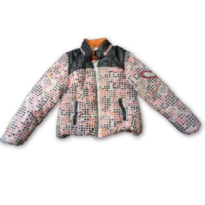 110-es rózsaszín szivecskés vastagabb átmeneti kabát