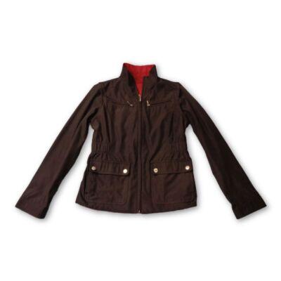 158-as fekete átmeneti kabát
