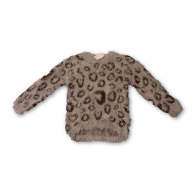 104-es szürke szőrmés pulóver - Grace