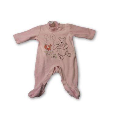 62-es rózsaszín macis hosszúujjú rugi - Micimackó