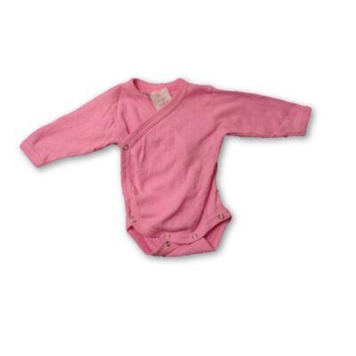 56-os rózsaszín átlapolós áttört mintájú body - Scamp