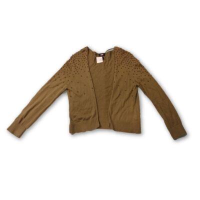134-es khaki gyöngyös kardigán - H&M