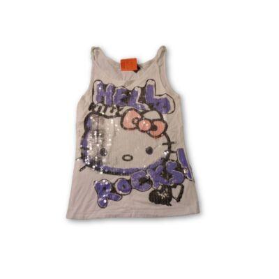 146-152-es flitteres póló - Hello Kitty