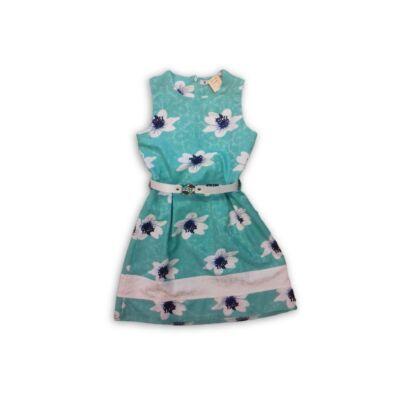 116-os zöld virágos öves ruha