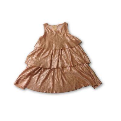 98-104-es rosegold rakott ruha, alkalmi ruha - H&M