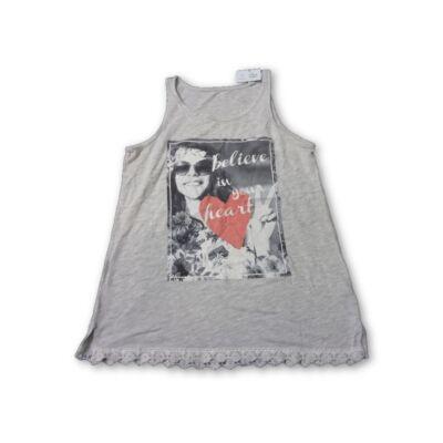 158-as szürke lányos ujjatlan póló - C&A