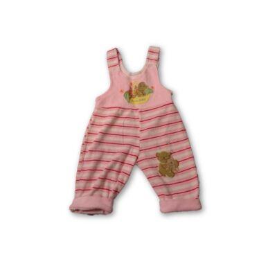 68-as rózsaszín plüss kantáros ndrág, tipegő, rugi