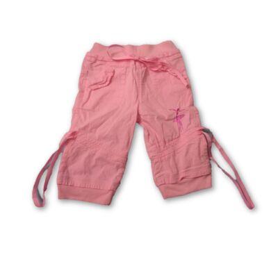 116-os rózsaszín vászon térdnadrág