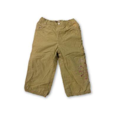 80-as zöld virágos pamut bélésű nadrág - In Extenso