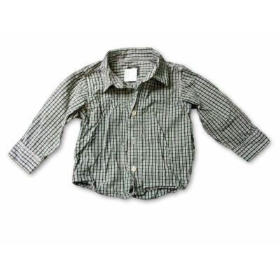 80-as zöld-fehér kockás ing - H&M