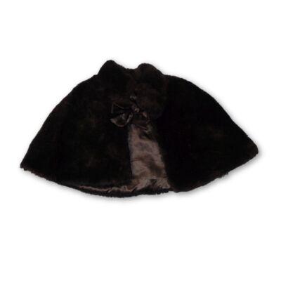 92-es fekete szőrmés boleró, pelerin
