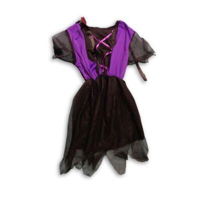4-5 évesre lila-fekete jelmezruha, boszorkány ruha
