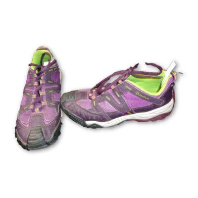 34-es lila sportos félcipő, túracipő - Quechua, Decathlon