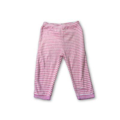 86-92-es rózsaszín csíkos plüss nadrág - Impidimpi