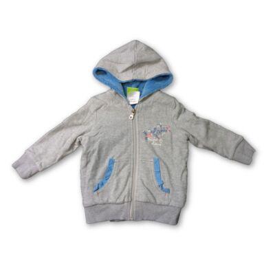 74-80-as szürke-kék kislány kardigán - Impidimpi