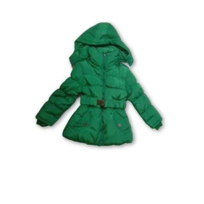 104-es szőrmével bélelt zöld télikabát - ÚJ