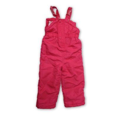 86-os pink polárral bélelt overallalsó, sínadrág