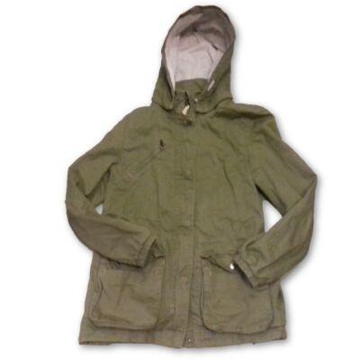 158-as khaki vászon lány átmeneti kabát - H&M