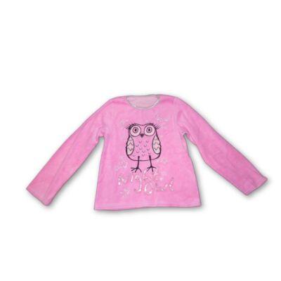 146-os pink plüssbaglyos pulóver
