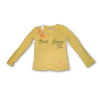 134-es sárga lány pamutfelső - Next