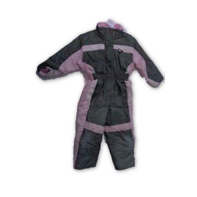 104-110-es khaki-rózsaszín overall, síruha - Kik