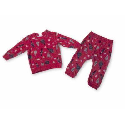 80-as piros karácsonyi mintás pizsama - H&M