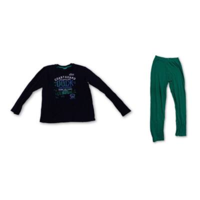 152-es kék-zöld fiú pizsama