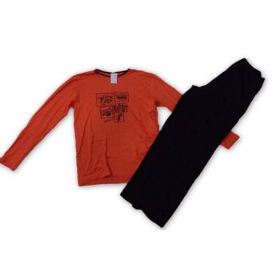 158-164-es narancs-fekete pizsama - Alive