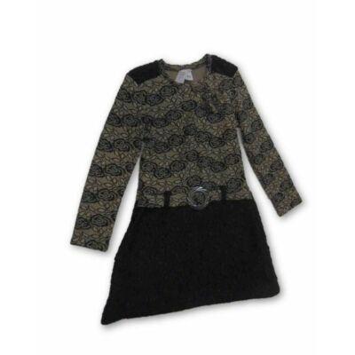 140-es arany-fekete alkalmi ruha