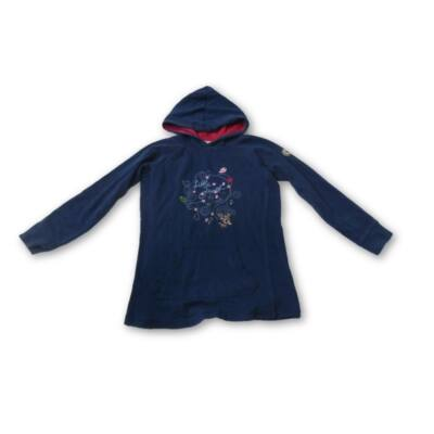 128-as kék kapucnis virágos pulóver - Blue Seven Kids